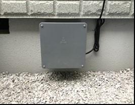設置した地震計